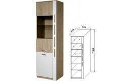 Шкаф многофункциональный со стеклом Бэлла-4