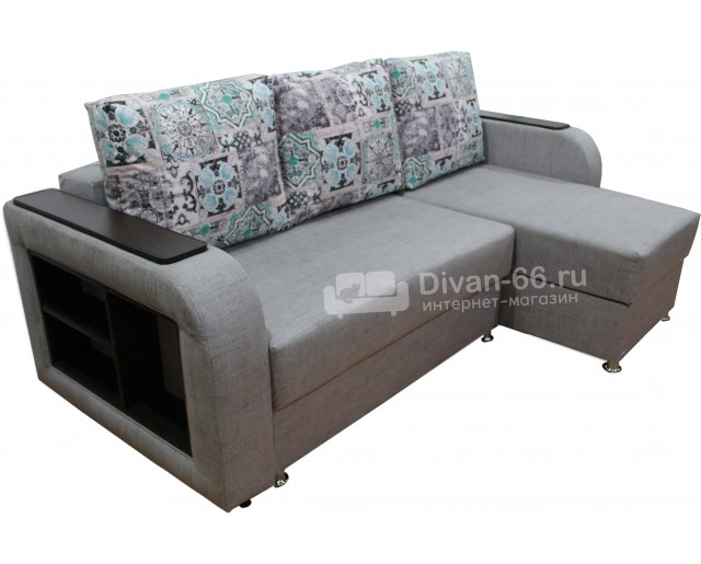 Угловой диван Эко 21 с полками