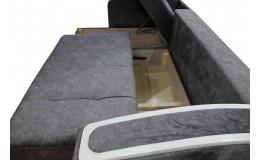 Угловой диван Эко 24 (Эми 09, Сакура серая)