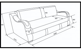 Еврокнижка  Эко 27 (Металлокаркас) тройной раскладки (Дублин 20 ЭГ, город 0298.01)