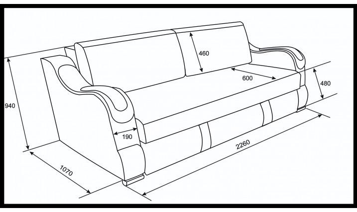 Еврокнижка  Эко 27 (Металлокаркас) тройной раскладки