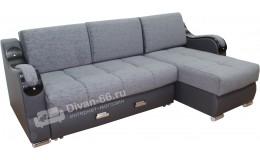 Угловой диван  Эко 27 (Металлокаркас) тройной раскладки (Барк 11)
