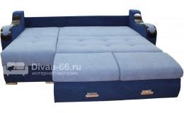 Угловой диван  Эко 27 (Металлокаркас) тройной раскладки (Галакси 22, Галакси 14)