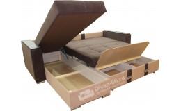 Угловой диван Эко 30 (Металлокаркас) тройной раскладки
