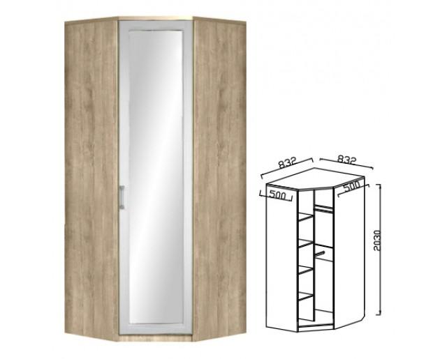 Шкаф угловой с зеркалом Юниор-7 ЮН-8