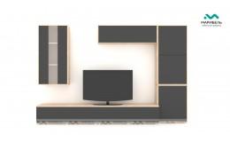 Гостиная модульная Куб (Cube) Компоновка 8