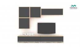 Гостиная модульная Куб (Cube) Компоновка 9