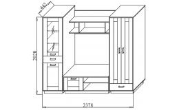 Гостиная модульная Волжанка (Квадро)
