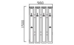 Вешалка навесная Визит-15