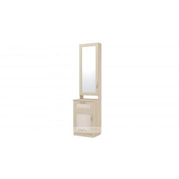 Шкаф комбинированный с зеркалом Визит-16 (ВИП-6)
