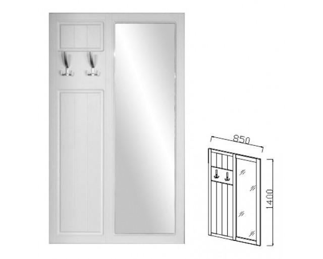 Вешалка навесная с зеркалом Визит-17 (Прованс)