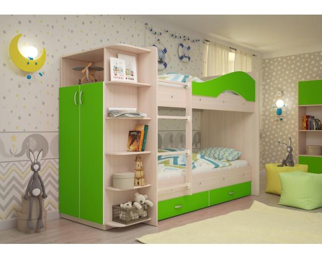 """Двухъярусная кровать """"Мая"""" со шкафом"""