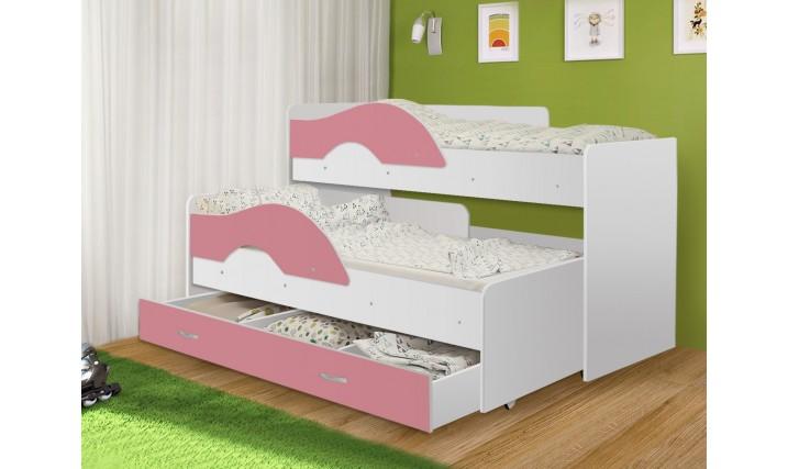 """Выкатная кровать """"Радуга"""" с ящиком"""