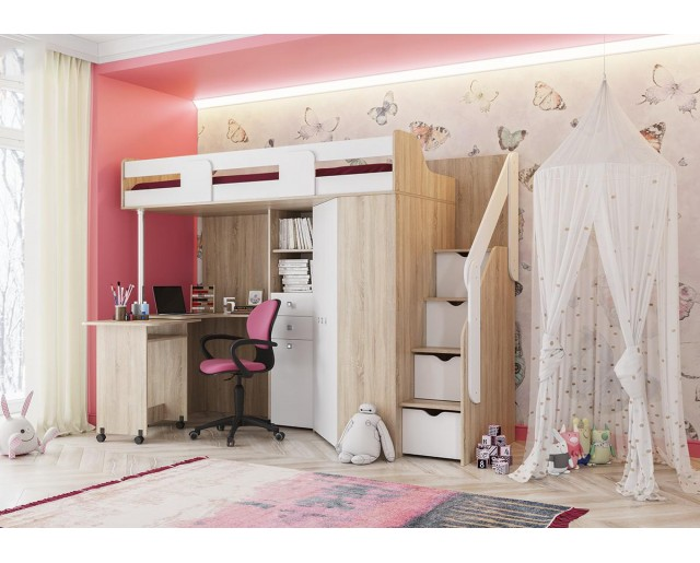 Кровать-чердак Мийа (А)
