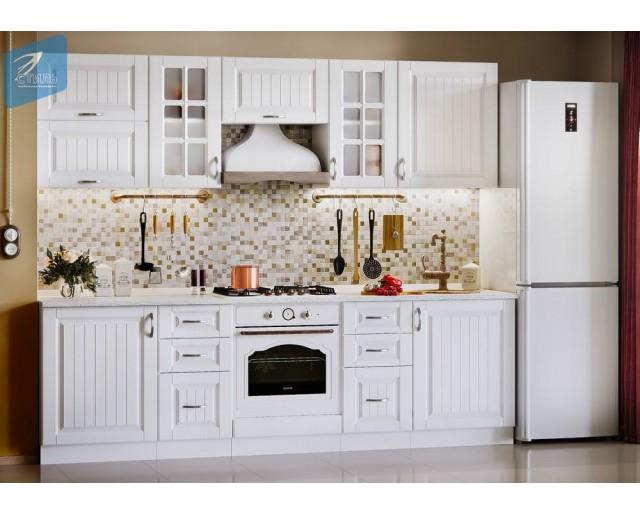 Модульный кухонный гарнитур Виола НЕО Кантри Белое дерево матовое