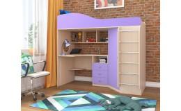 Кровать чердак «Кадет 1» с металлической лестницей